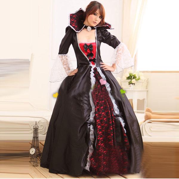 Vampire Halloween Costumes Witch Zombie Queen Dress For Women ...