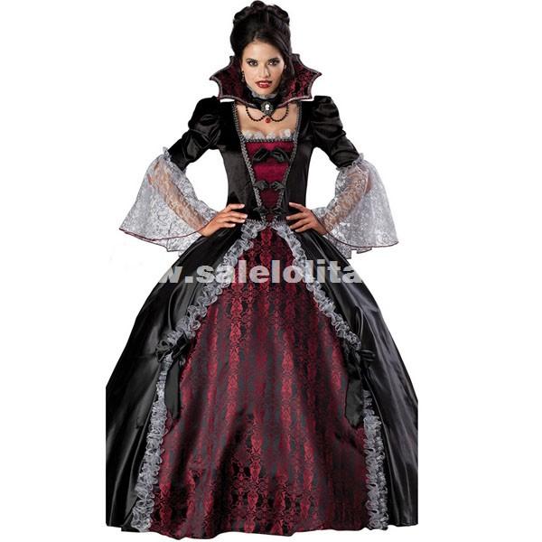 V&ire Halloween Costumes Witch Zombie Queen Dress For Women. Loading  sc 1 st  Salelolita.com & Vampire Halloween Costumes Witch Zombie Queen Dress For Women ...