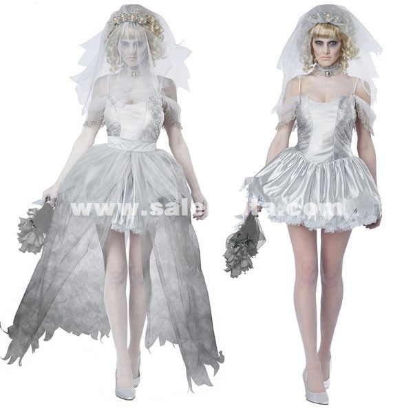 zombie vampire queen costumes halloween ghost bride dress for women loading