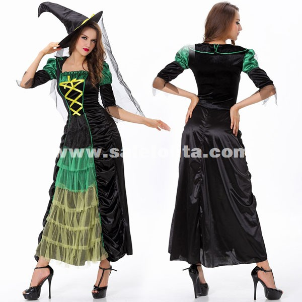 Cosplay Adult Halloween Party Dress Women's Witch Costumes