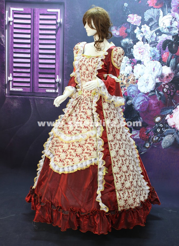 Wine Red Southern Belle Costume Print Palace Victorian