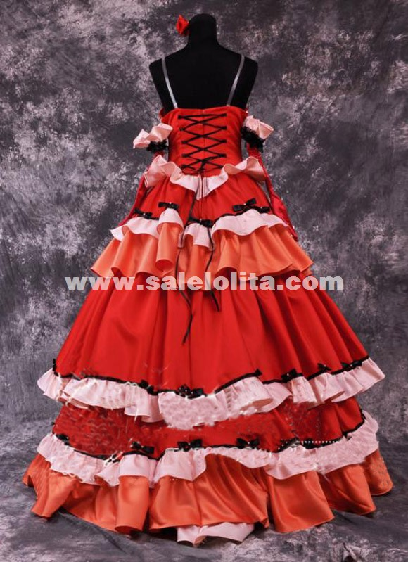 Anime Code Geass Cosplay Costume Red C.C.Anime Cosplay Dress For Women