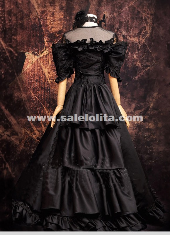 Black Anime VOCALOID Miku Cosplay Women Dress