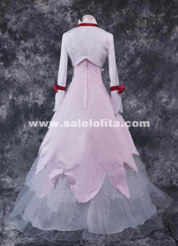 White And Pink Anime CODE GAESS Cosplay Costume Britannia/Euphy Cosplay Women Dress