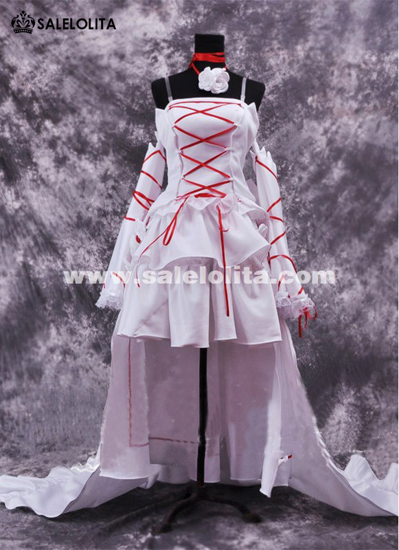 bd602c700 White Discount Anime Pandora Hearts Spaghetti Strap Cosplay Costume Alice Cosplay  Women Dress. Loading