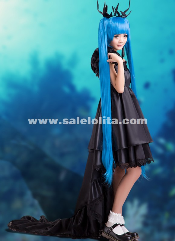 2015 Anime Vocaloid Miku Cosplay Costume Deep Sea Maiden Cosplay Dress