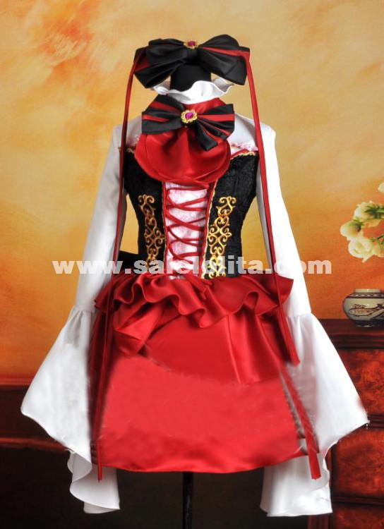 2015 new red and black anime vocaloid cosplay dress for - Red and black anime ...
