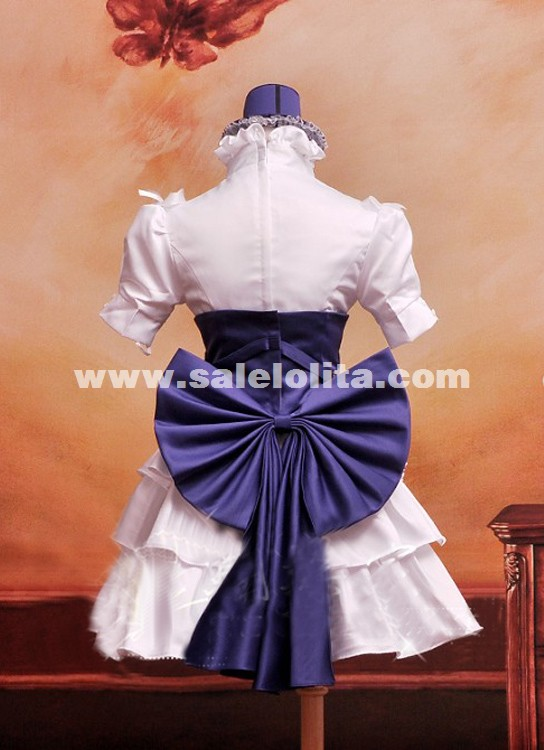 2015 Anime MACROSS Sheryl Nome Cosplay Maid Dress Anime Cosplay Party Dress