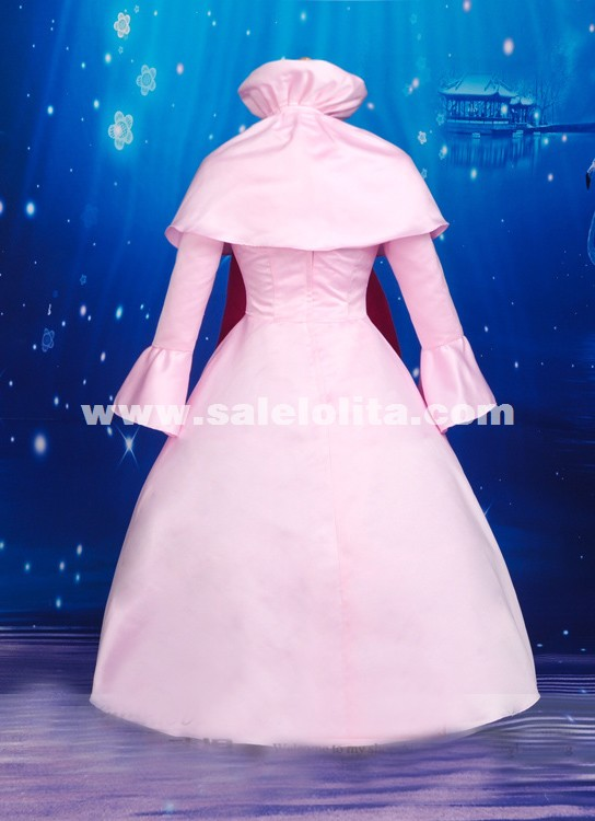 2015 New Anime Fairy Tail Cosplay Dress Pink Mavis Vermilion Cosplay Dress