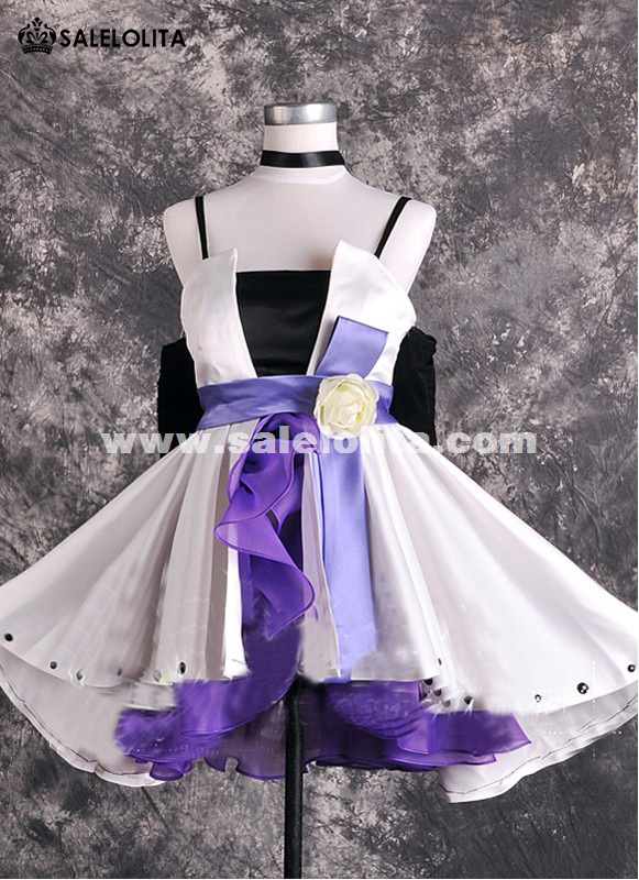 2015 Anime Vocaloid Haku Cosplay Dress Ladies Short Party Dress