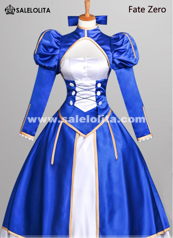 2015 New Fate Zero Cosplay Dress Anime Fate Stay Night Saber Cosplay Dress