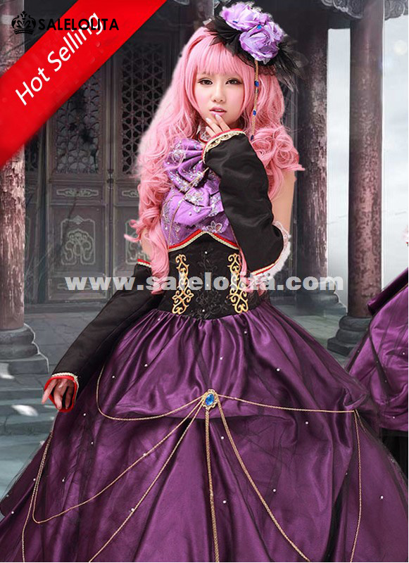 2015 Luxury Vocaloid Luka Cosplay Dress Women Party Dress