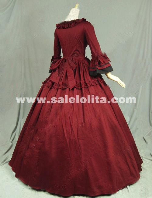 Gothic Renaissance Victorian Steampunk Dress Gown Reenactment Costume Party Dress Vintage Ball Gown