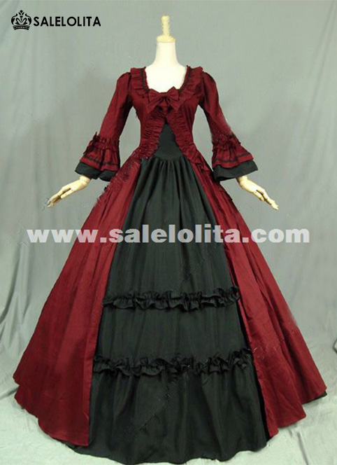 Gothic Renaissance Victorian Steampunk Dress Gown Reenactment Costume Party Vintage Ball