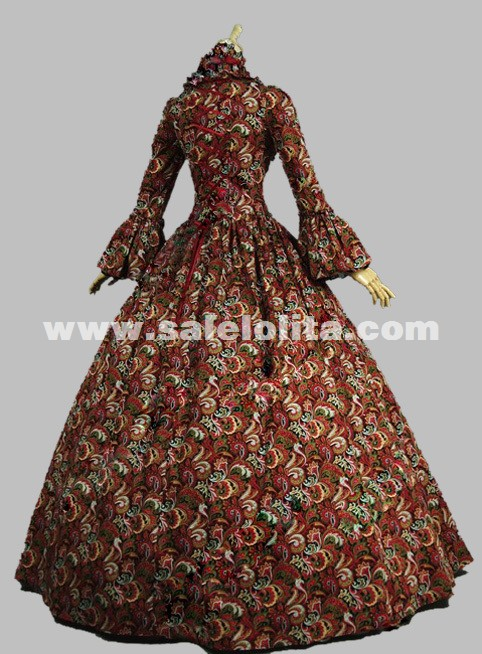 Georgian Gothic Victorian Period Dress Masquerade Ball Gown ...
