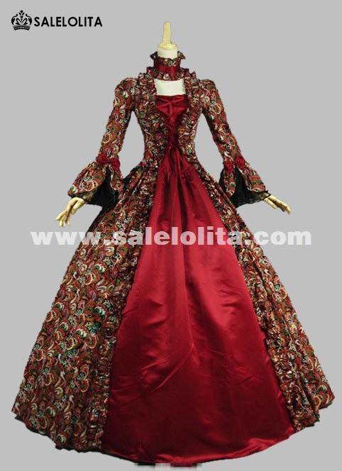 Georgian Gothic Victorian Period Dress Masquerade Ball Gown ...