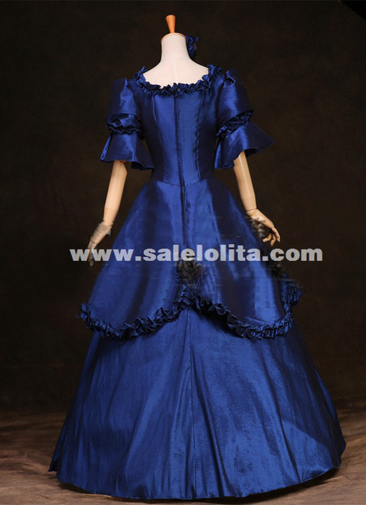 Marie Antoinette Victorian Era Period Costumes Renaissance Medieval Dresses Historical Gothic Prom Dress