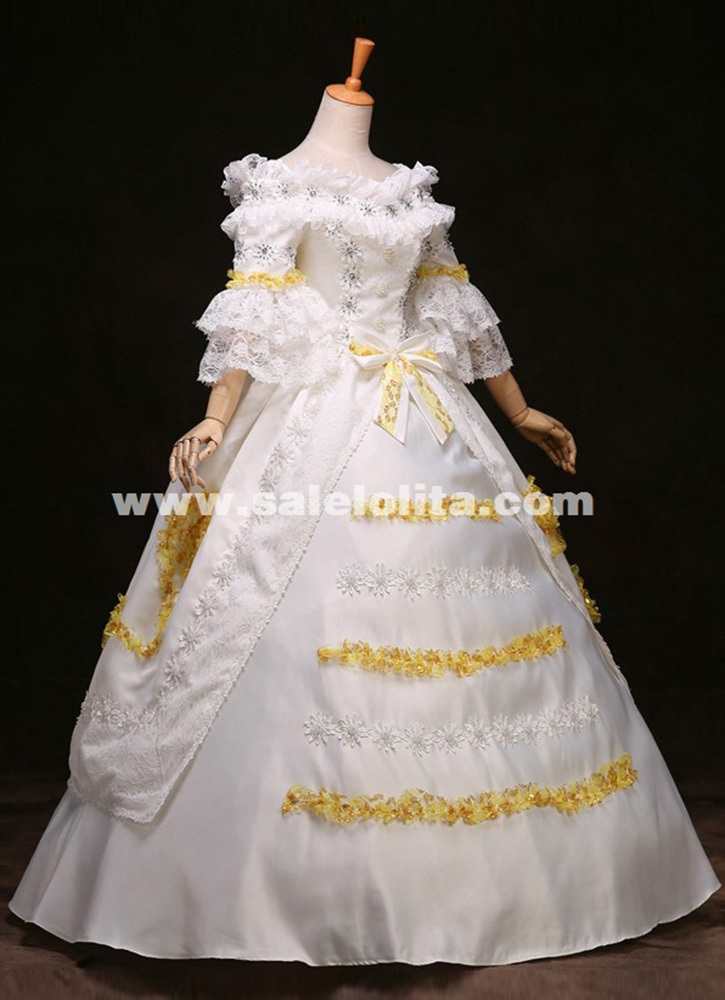 Lace Marie Antoinette Dress 17th 18th Century Wedding Party Dress ...