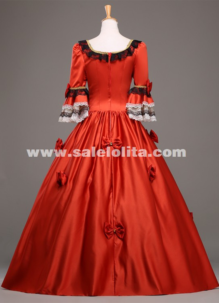 High grade 18th century marie antoinette ball gown vintage for Red and black wedding dresses for sale