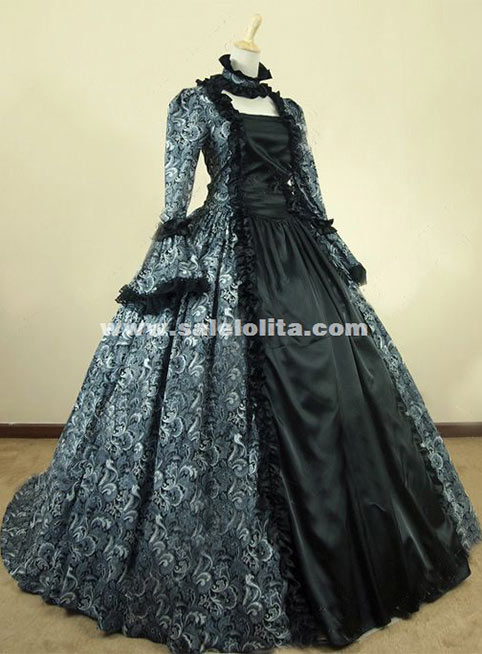 Victorian Gothic Brocade Period Costume Vintage 18th Century Ball ...