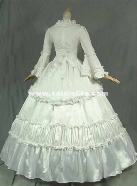 Victorian Gothic Steampunk Ball Gown Wedding Party Dress Reenactment Stage Costume