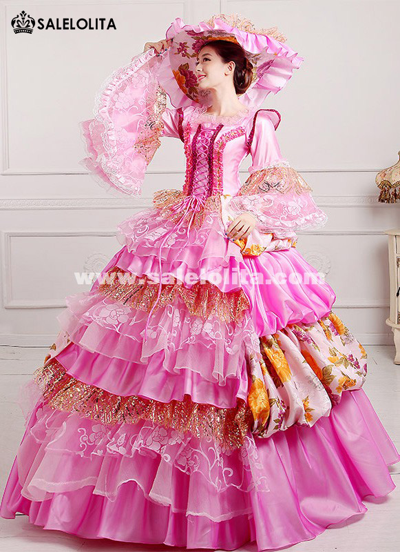 2016 Elegant Dance Dress 18th Century Marie Antoinette