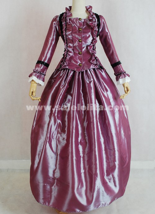 Latest Designs Long Sleeve Rose Red Halloween Gothic Victorian Ball ...