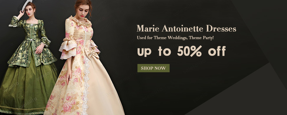 New Arrival Medieval Rococo Marie Antoinette Dress