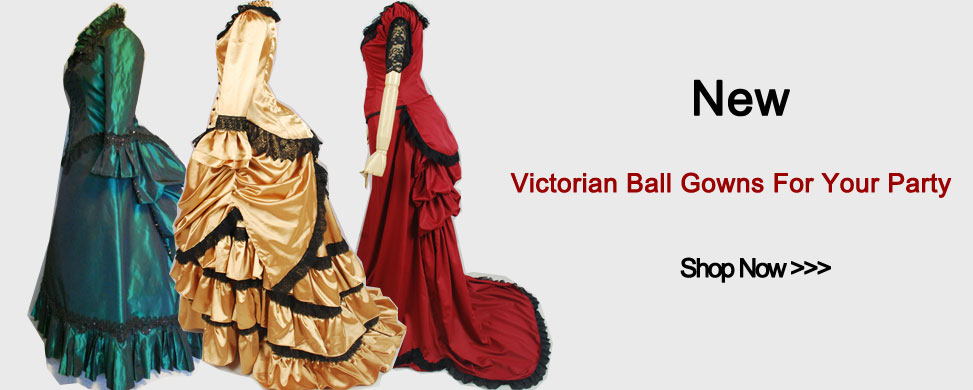 New Victorian Ball Gowns For Your Party