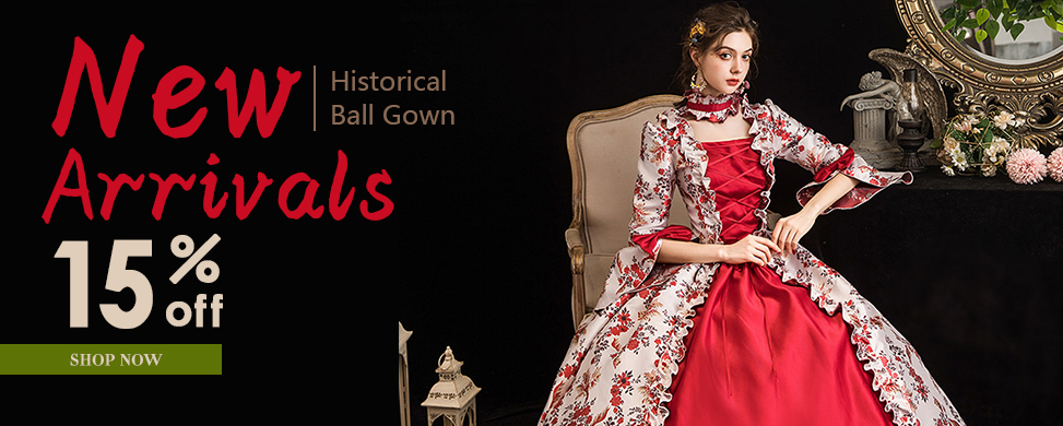 New Arrival Medieval Rococo Histerical Ball Gown