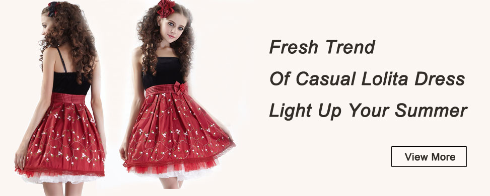 Fresh Trend Of Casual Lolita Dress Light Up Your Summer