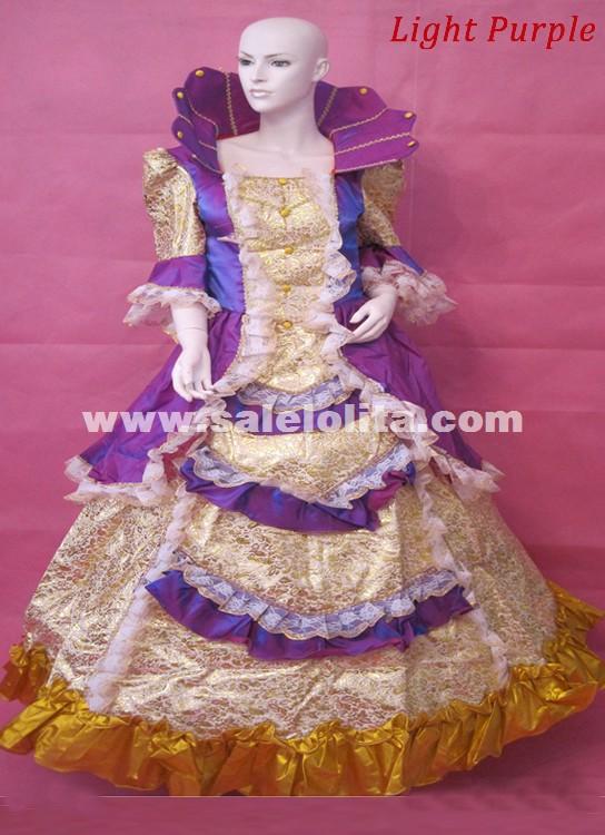 6 Color Medieval Dress Halloween Gowns Turtleneck Palace Marie Antoinette Dresses Costumes