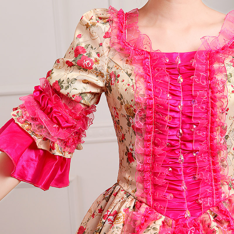 Detail Of Red Marie Antoinette Dress_1