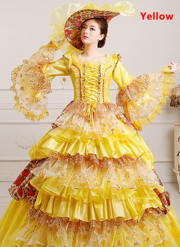 Elegant Dance Dress Century Marie Antoinette Ball Gown