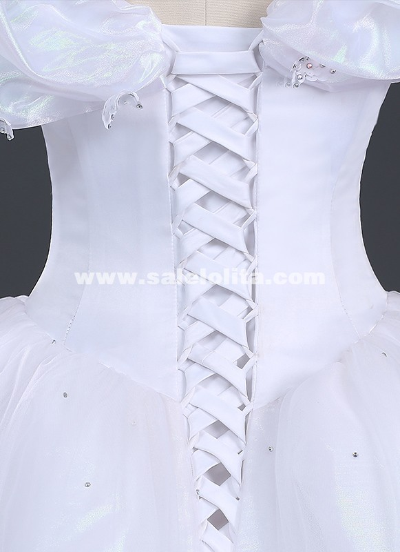 Brand New Women Princess Cinderella Cosplay Costume White Adult Cinderella Wedding Dress,Wedding Pakistani Women Dress