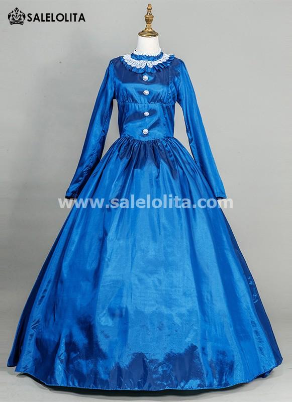 Blue Victorian Civil War Dress