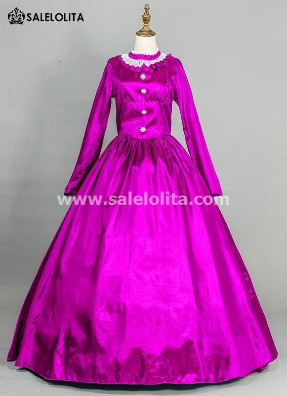 Purple Victorian Civil War Dress