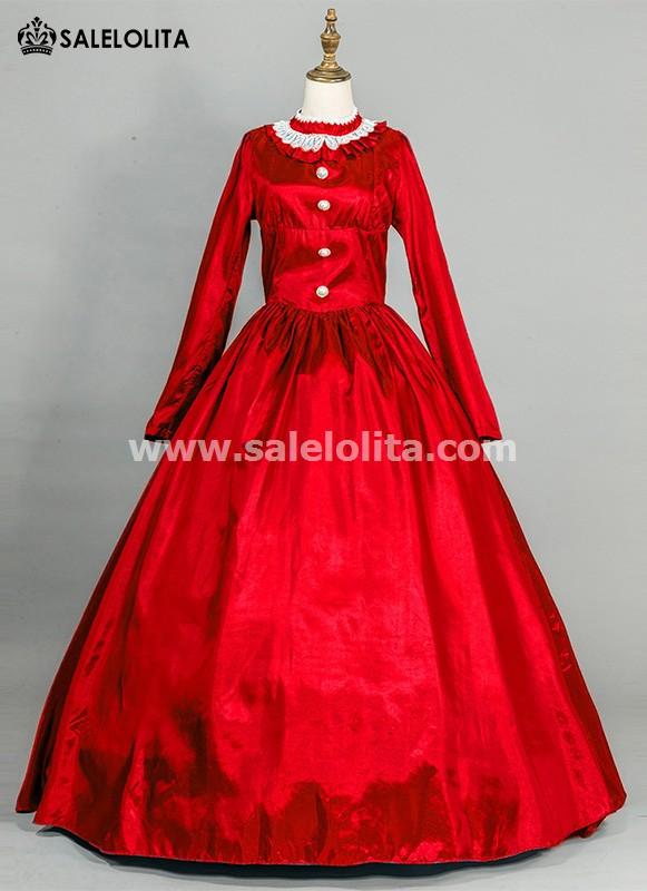 Red Victorian Civil War Dress