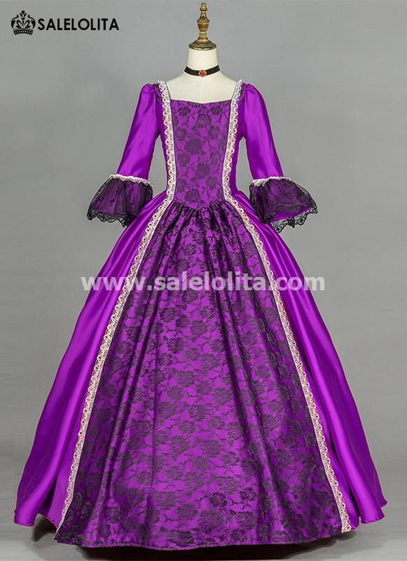 Purple Simple Renaissance Victorian Dress